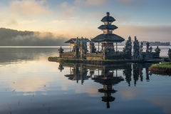 Pura Ulun Danu Bratan temple and reflection, landmark of Bali is Stock Images