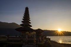 Pura Ulun Danu Bratan Water Temple at sunrise Bali ,Indonesia Royalty Free Stock Images
