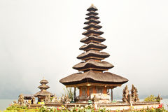 Pura Ulun Danu Temple on Bratan Lake (Bali) Stock Photography