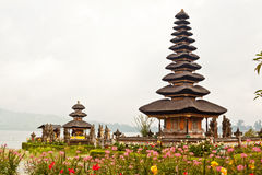 Pura Ulun Danu Temple on Bratan Lake (Bali) Stock Photos