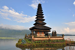 Pura  Ulun Danu temple on lake Bratan. Stock Photo