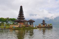 Pura Ulun Danu temple on lake Bratan. Stock Images