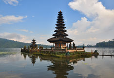 Pura Ulun Danu temple on lake Bratan. Stock Image