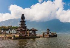 Pura Ulun Danu temple on a lake Bratan Royalty Free Stock Images