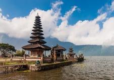 Pura Ulun Danu temple on a lake Bratan Stock Photography