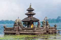 Pura Ulun Danu temple on a lake Bratan Stock Images