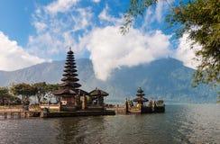 Pura Ulun Danu temple on a lake Bratan Stock Photo