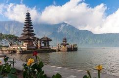 Pura Ulun Danu temple on a lake Bratan Royalty Free Stock Image