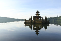 Pura Ulun Danu water temple lake brataan bali. Dawn at Pura Ulun Danu water temple on lake brataan near bedugal, bali, indonesia Stock Images