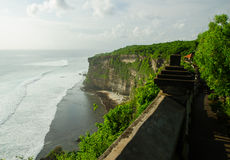 Pura Uluwatu tempel i den Bali ön, Indonesien Fotografering för Bildbyråer