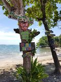 Pura Vida, un amour, n'abandonnent jamais, le Costa Rica Photo stock