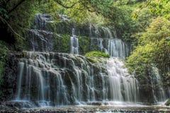 Purakaunui Falls, Catlinsen, New Zealand Royaltyfria Bilder