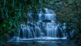 Purakaunui Falls, Catlinsen, New Zealand royaltyfri foto