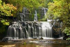 Purakaunui Falls in the Catlins area of Otago, New Zealand. royalty free stock image