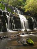 Purakaunui waterfall Stock Photos