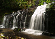 Purakaunui waterfall Royalty Free Stock Photography