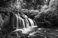 Purakaunui waterfall, Catlins, New Zealand Stock Photography