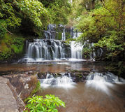 Purakaunui waterfall, Catlins, New Zealand Stock Photo