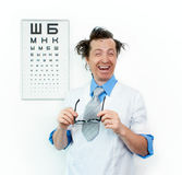 Purblind oculist Stock Photography