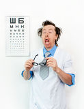 Purblind oculist Royalty Free Stock Image