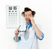 Purblind oculist Royalty Free Stock Photography