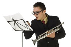 Purblind trumpeter Royalty Free Stock Images