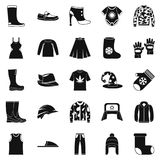 Purchase of accessories icons set, simple style Royalty Free Stock Photography