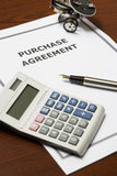 Purchase Agreement Royalty Free Stock Images