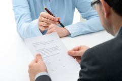 Purchase agreement for a  house Stock Photography