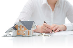 Purchase agreement for house Stock Photography