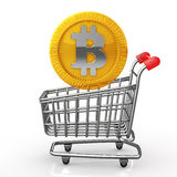 Purchase of bit coin Stock Images