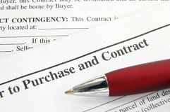 Purchase contract Stock Image