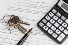 Purchase contract with the keys Stock Photos