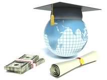 Purchase diplomas for money Stock Photo