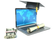 Purchase diplomas for money Royalty Free Stock Photos