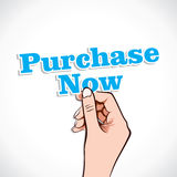 Purchase Now word in hand Royalty Free Stock Photo