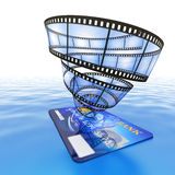 Purchase online video Stock Photo
