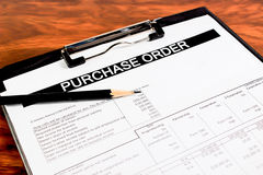 Purchase order form Stock Photography