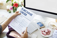 Purchase Order Online Form Deal Concept Stock Photos