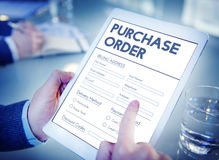 Purchase Order Online Form Deal Concept. Purchase Order Online Form Deal Royalty Free Stock Photo