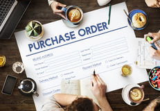 Purchase Oreder Online Form Deal Concept Royalty Free Stock Photography