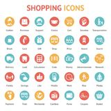 Purchase, payment and delivery icons Stock Image