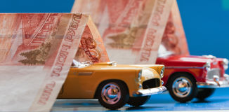 Purchase, sale or car insurance Royalty Free Stock Photo