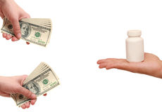 Purchase and sale of drugs Stock Photo