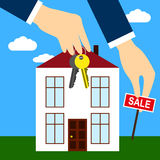 Purchase and sale of real estate vector illustration