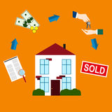 Purchase and sale of real estate Stock Photo