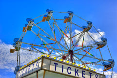 Purchase your Ferris wheel ticket Stock Images