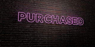 PURCHASED -Realistic Neon Sign on Brick Wall background - 3D rendered royalty free stock image. Can be used for online banner ads and direct mailers stock illustration