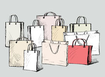 purchases bags Royalty Free Stock Photos