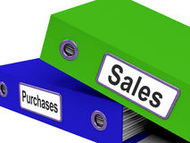 Purchases And Sales Files Containing Transactions Stock Photos